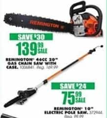 "Blains Farm Fleet Black Friday: Remington 10"" Electric Pole Saw for $75.99"
