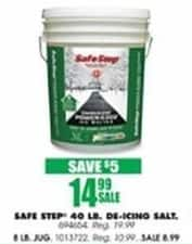 Blains Farm Fleet Black Friday: Safe Step 40 Pound De-Icing Salt for $14.99