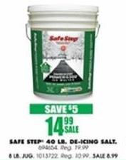 Blains Farm Fleet Black Friday: Safe Step 8 Pound De-Icing Salt for $8.99