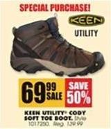 Blains Farm Fleet Black Friday: Keen Utility Men's Cody Soft Toe Boot for $69.99