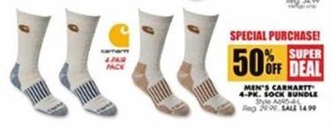 Blains Farm Fleet Black Friday: Carhartt Men's 4-pk Sock Bundle for $14.99