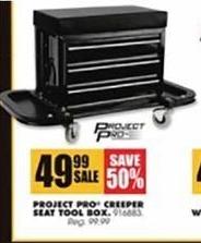 Blains Farm Fleet Black Friday: Project Pro Creeper Seat Tool Box for $49.99