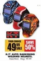 Blains Farm Fleet Black Friday: K-T Auto Darkening Welding Helmets for $49.99