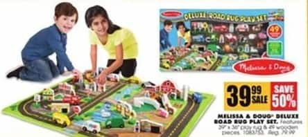 Blains Farm Fleet Black Friday: Melissa & Doug Deluxe Road Rug Play Set for $39.99