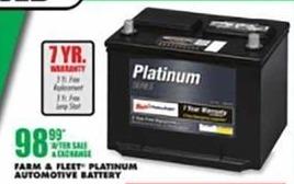 Blains Farm Fleet Black Friday: Farm & Fleet Platinum Automotive Battery for $98.99