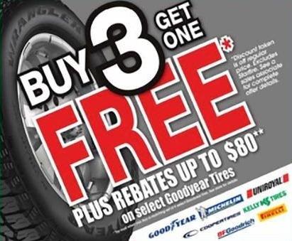Blains Farm Fleet Black Friday: Select Goodyear Tires - B3G1 Free + Rebate up to $80