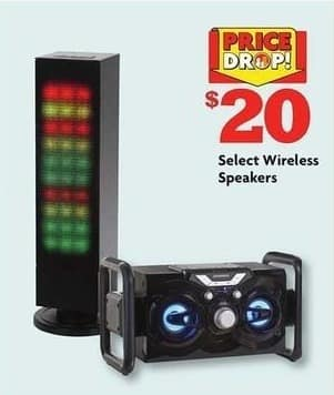 Family Dollar Black Friday: Select Wireless Speakers for $20.00