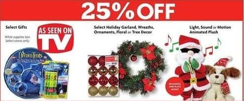 family dollar black friday select holiday garland wreaths ornaments floral or tree - Family Dollar Christmas Decorations