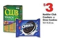 Family Dollar Black Friday: Keebler Club Crackers or Oreo Cookies for $3.00