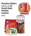 Family Dollar Black Friday: Pirouline Wafers 3.5 oz Tin or Lil' Dutch Maid 9 oz Holiday Cookies for $1.00