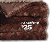 Family Dollar Black Friday: Fur Comforter for $25.00