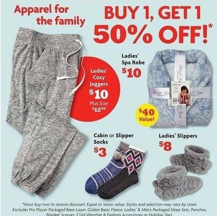 Family Dollar Black Friday: Select Men's, Women's and Kids' Apparel - B1G1 50% Off