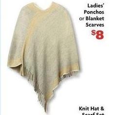 Family Dollar Black Friday: Ladies' Ponchos or Blanket Scarves for $8.00