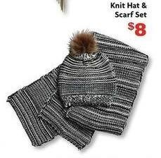 Family Dollar Black Friday: Knit Hat and Scarf Set for $8.00