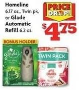 Family Dollar Black Friday: Homeline 6.17 oz Twin Pack or Glade 6.2 oz Automatic Refill Air Freshener for $4.75
