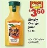 Family Dollar Black Friday: Simply Orange Juice 59 oz for $3.50
