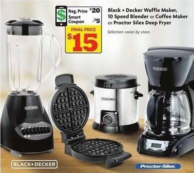 Family Dollar Black Friday: Black + Decker Waffle Maker, 10