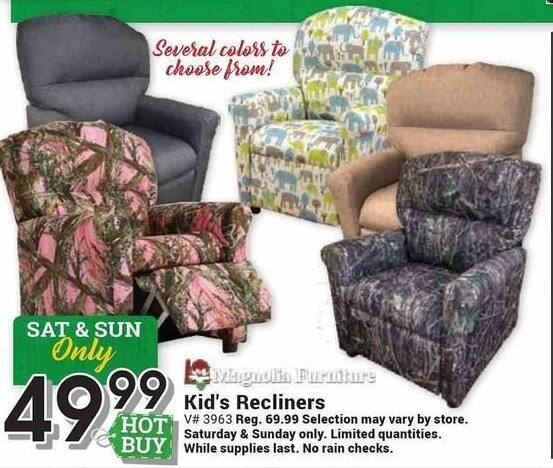 Farm and Home Supply Black Friday: Magnolia Furniture Kid's Recliners for $49.99