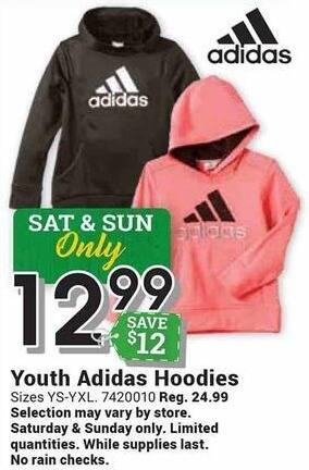 Farm and Home Supply Black Friday: Adidas Youth Hoodies for $12.99