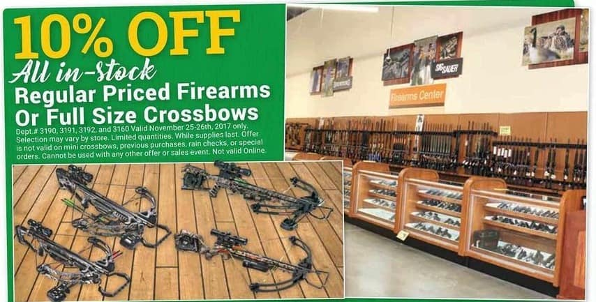 Farm and Home Supply Black Friday: All In-Stock Regular Price Firearms or Full Size Crossbows - 10% Off