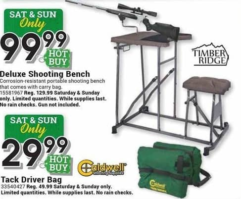 Farm and Home Supply Black Friday: Timber Ridge Deluxe Shooting Bench for $99.99