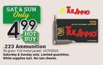 Farm and Home Supply Black Friday: TulAmmo .223 55 Grain Ammunition for $4.99
