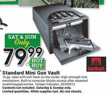 Farm and Home Supply Black Friday: GunVault Standard Mini Gun Vault for $79.99