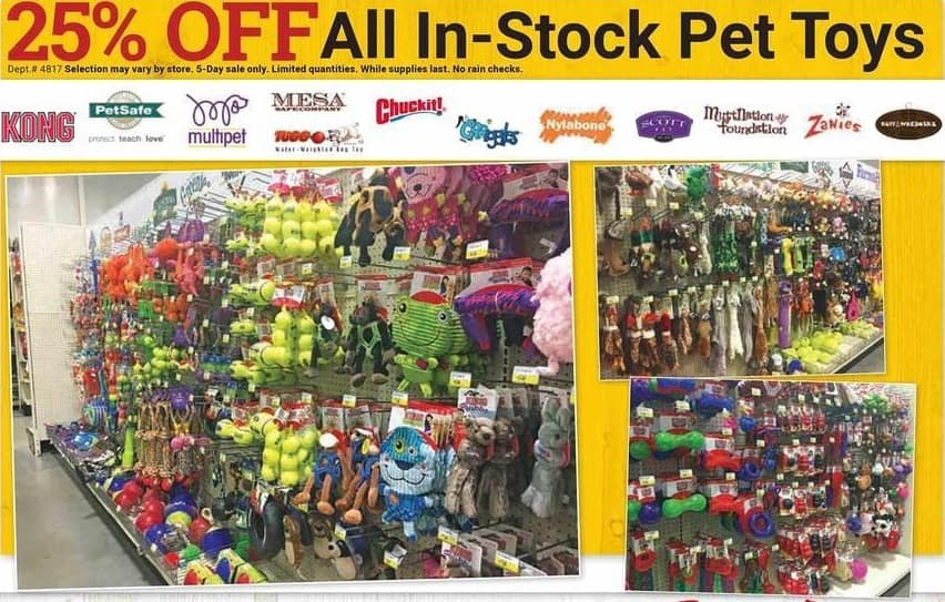 Farm and Home Supply Black Friday: All In-Stock Pet Toys: Kong, PetSafe, Chuck-It, Nylabone & More - 25% Off