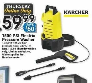 Farm and Home Supply Black Friday: Karcher 1500 PSI Electric Pressure Washer for $59.99