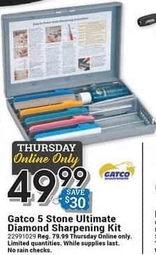Farm and Home Supply Black Friday: Gatco 5 Stone Ultimate Diamond Sharpening Kit for $49.99