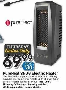 Farm and Home Supply Black Friday: PureHeat SNUG Electric Heater for $69.99