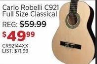 Sam Ash Black Friday: Carlo Robelli C921 Full Size Classical Acoustic Guitar for $49.99