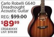 Sam Ash Black Friday: Carlo Robelli G640 Dreadnought Acoustic Guitar for $89.99