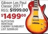 Sam Ash Black Friday: Gibson Les Paul Classic 2017 T Electric Guitar (Heritage Cherry Sunburst) for $1,499.00