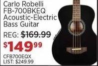 Sam Ash Black Friday: Carlo Robelli FB-700BKEQ Acoustic-Electric Bass Guitar for $149.99