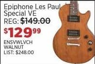 Sam Ash Black Friday: Epiphone Les Paul Special VE Electric Guitar (Walnut) for $129.99