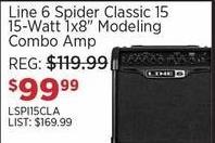 """Sam Ash Black Friday: Line 6 Spider Classic 15 15-Watt 1x8"""" Modeling Combo Amp for $99.99"""