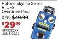 Sam Ash Black Friday: Hotone Skyline Series BLUES Overdrive Pedal for $29.99