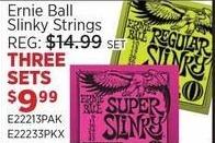 Sam Ash Black Friday: (3) Ernie Ball Slinky Strings Sets for $9.99