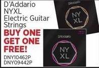Sam Ash Black Friday: D'Addario NYXL Electric Guitar Strings - B1G1 Free