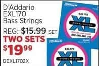 Sam Ash Black Friday: (2) D'Addario EXL170 Bass Strings Sets for $19.99