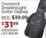 Sam Ash Black Friday: Crossrock Dreadnought Guitar Gigbag for $31.99