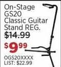 Sam Ash Black Friday: On-Stage GS20 Classic Guitar Stand for $9.99