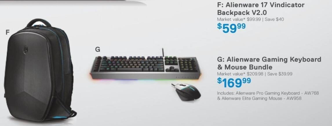 Dell Home & Office Cyber Monday: Alienware Gaming Keyboard and Mouse Bundle for $169.99