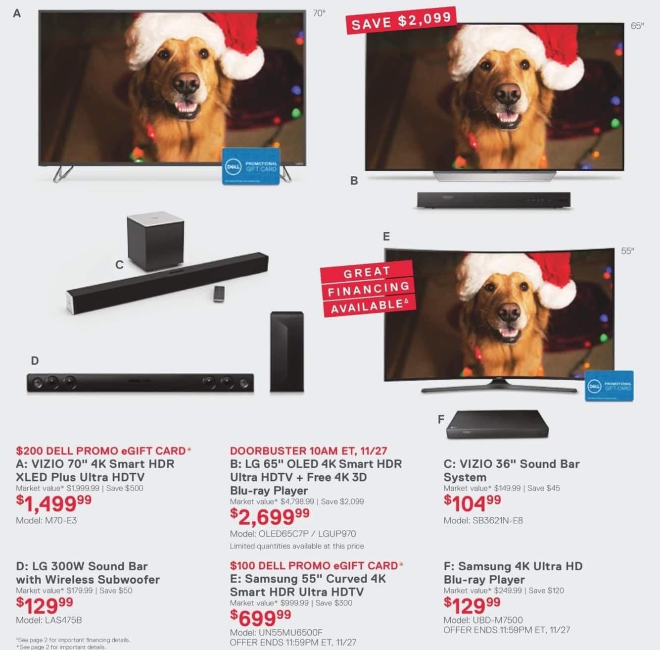 "Dell Home & Office Cyber Monday: Vizio 36"" Sound Bar System for $104.99"