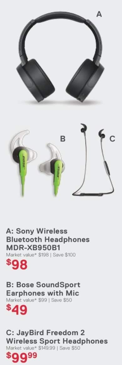 Dell Home & Office Cyber Monday: Sony Wireless Bluetooth Headphones (MDR-XB950B1) for $98.00