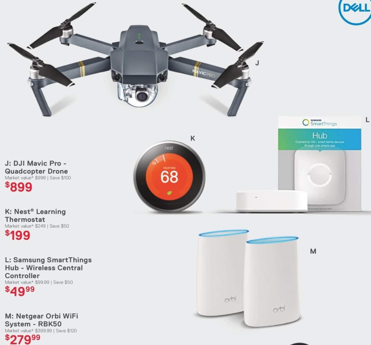 Dell Home & Office Cyber Monday: DJI Mavic Pro Quadcopter Drone for $899.00