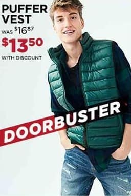 Aeropostale Cyber Monday: Guys' Puffer Vest for $13.50