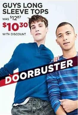 Aeropostale Cyber Monday: Guys' Long Sleeve Tops for $10.30