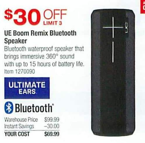 Costco Wholesale Black Friday: UE Boom Remix Bluetooth
